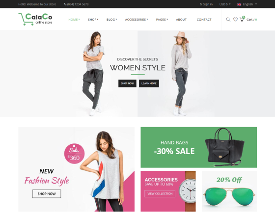 Vina Calaco - Clothing and Fashion VirtueMart Template