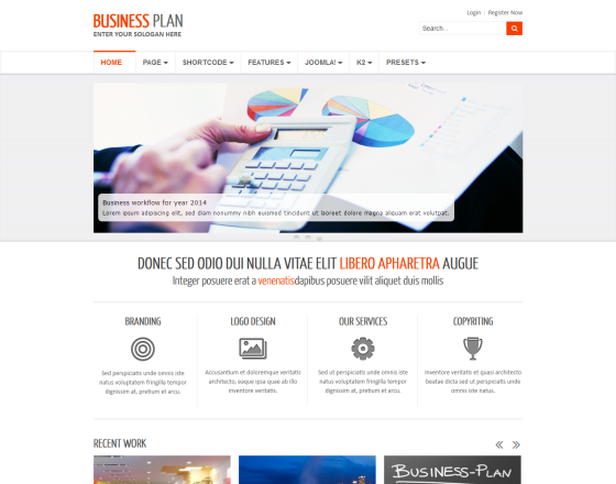 business plan ii free responsive business joomla template