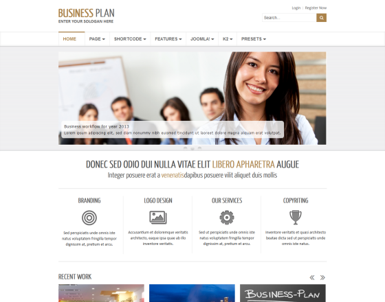 Business plan ii free responsive business joomla template flashek