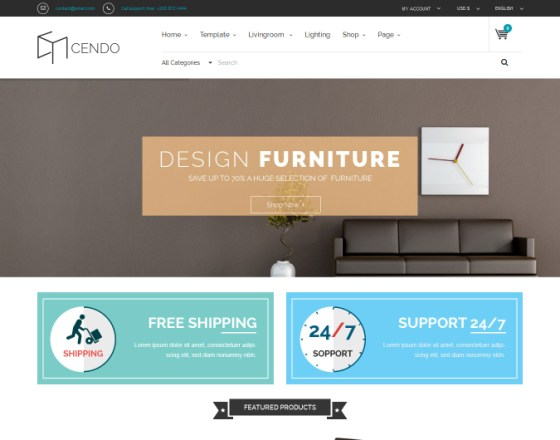 Vina Cendo - VirtueMart Template for Furniture Stores