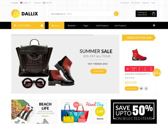 Vina Dallix - Multipurpose Joomla & VirtueMart Template