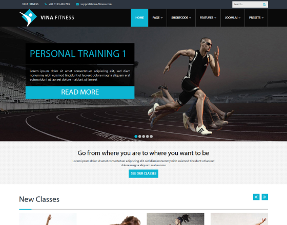 vina fitness ii health sport gyms and trainers template