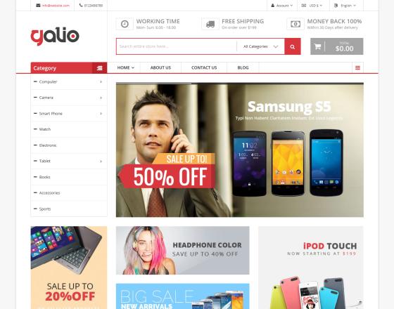 Galio - Mega Shop: Responsive Templatehtml et Bootstrap 4 Gratuit