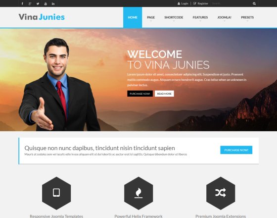Junies - Responsive Corporate Joomla 3.x Template