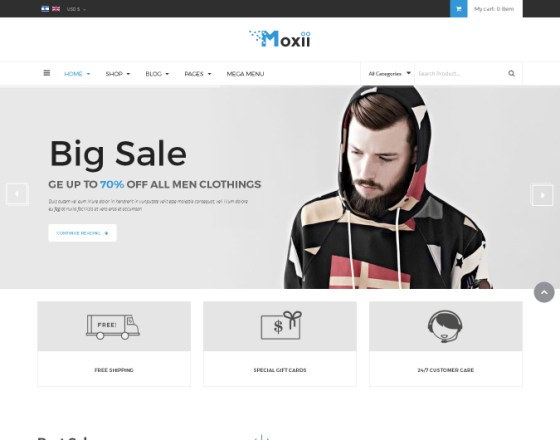 Vina Moxii - Responsive Fashion VirtueMart Template