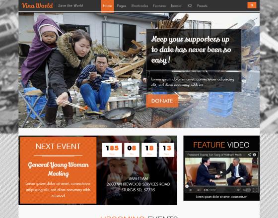 vina world ii free charity amp nonprofit joomla template