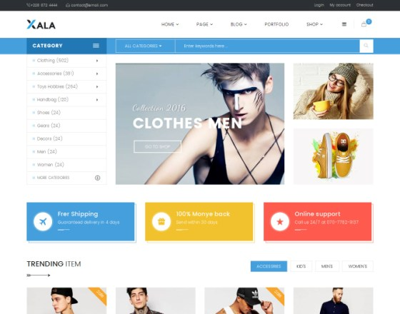 Vina Xala - Clean and Responsive VirtueMart Template