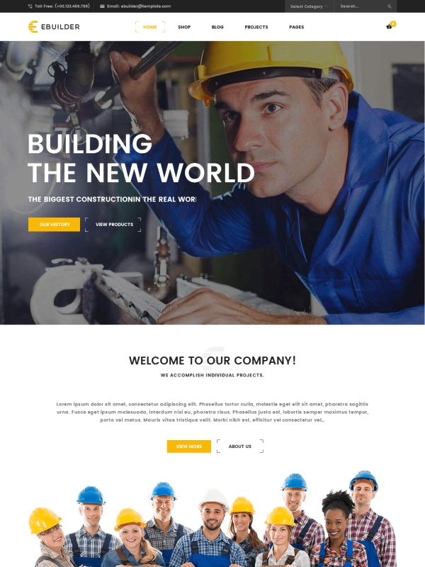 VG eBuilder - Construction and Builder WordPress Theme