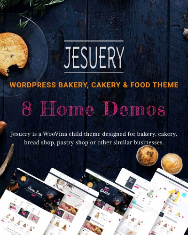 Jesuery - WordPress Bakery, Cakery & Food Theme