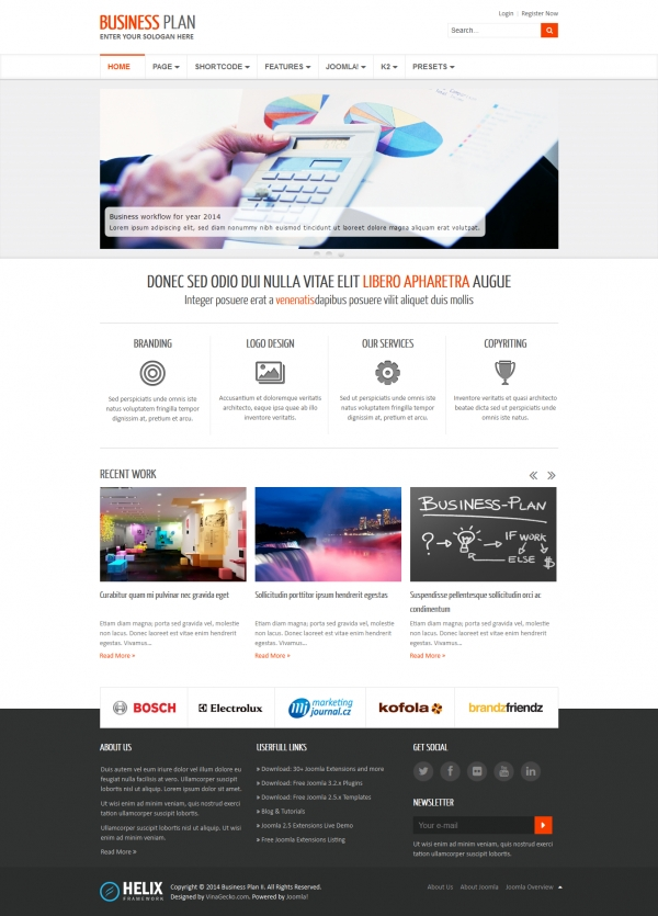 Free joomla 3 templates business plan ii free responsive business joomla template fbccfo Images