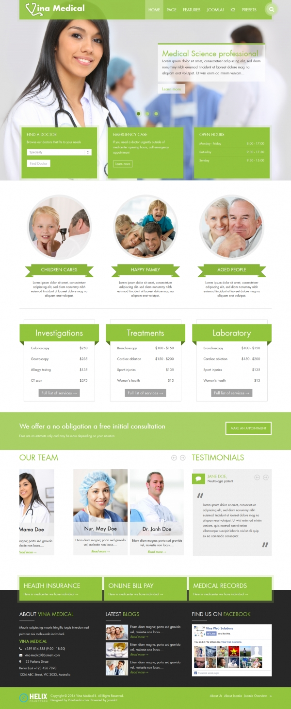 Vina Medical II - Medical & Health Responsive Template
