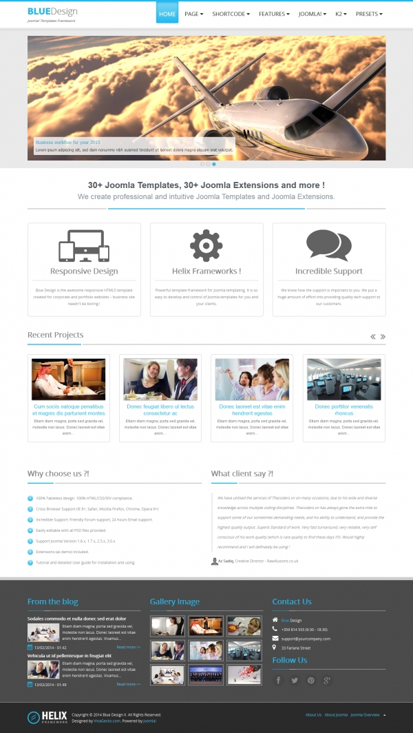 Free joomla 3 templates blue design ii free responsive joomla 3 template for business maxwellsz
